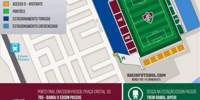 Mapa do estadio Giulite Coutinho