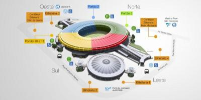 Mapa do estadio Maracana