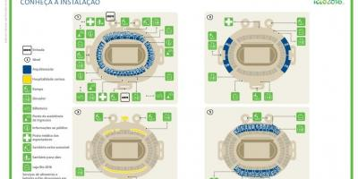 Mapa do estadio olympique de río de janeiro